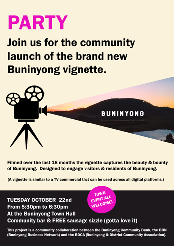 Launch of Buninyong promotional film